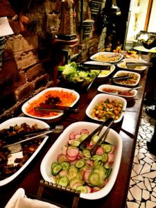O buffet de saladas era bastante variado!